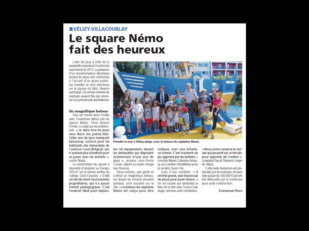 Une nouvelle aire de jeux à Vélizy-Villacoublay
