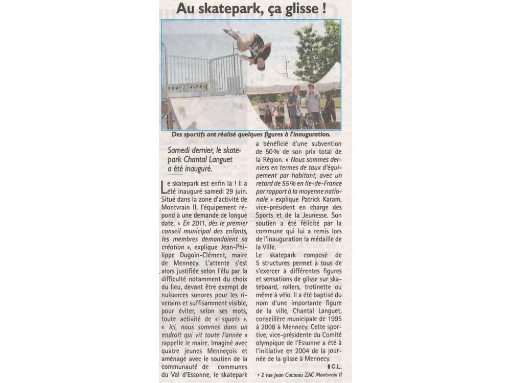 Inauguration Skatepark à Mennecy (91)