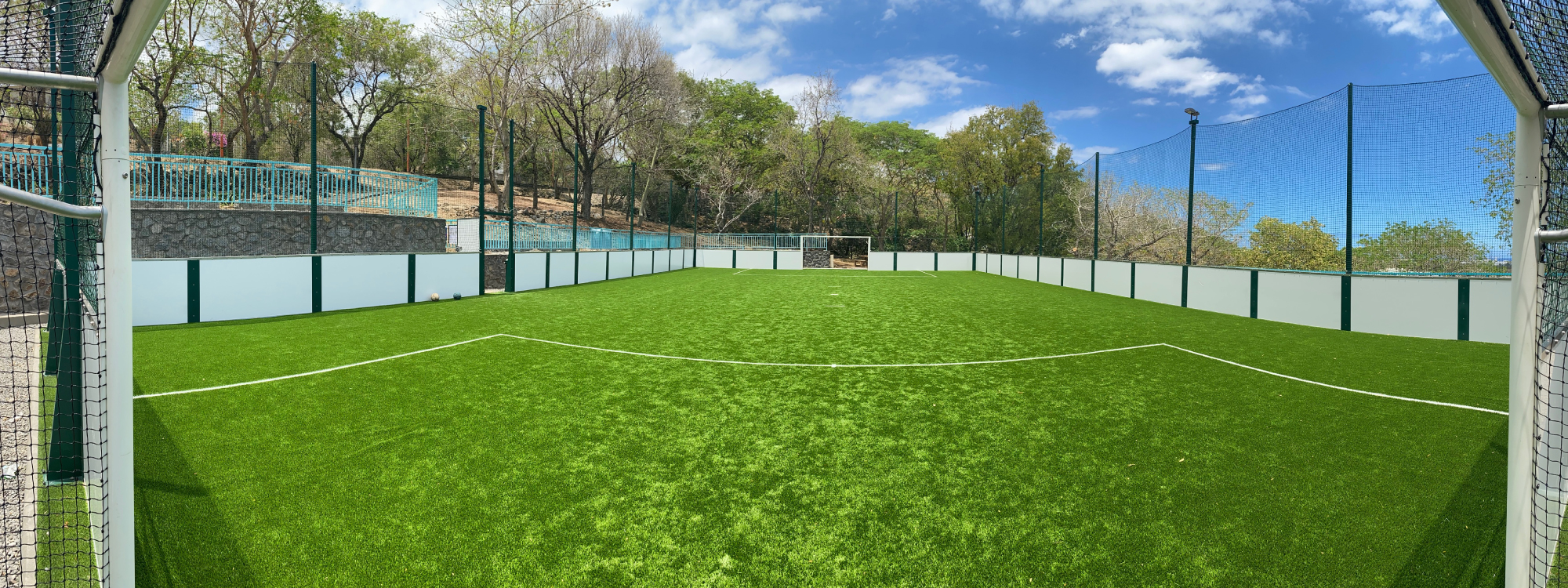 Outdoor football fields for 5-a-side football practice