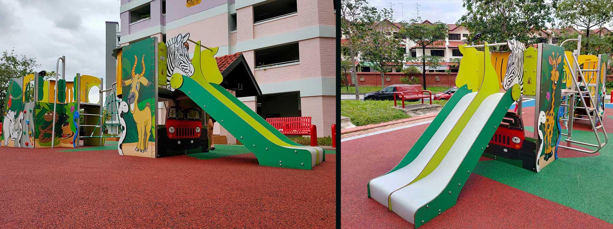 Jeux extérieurs sur-mesure au design innovant