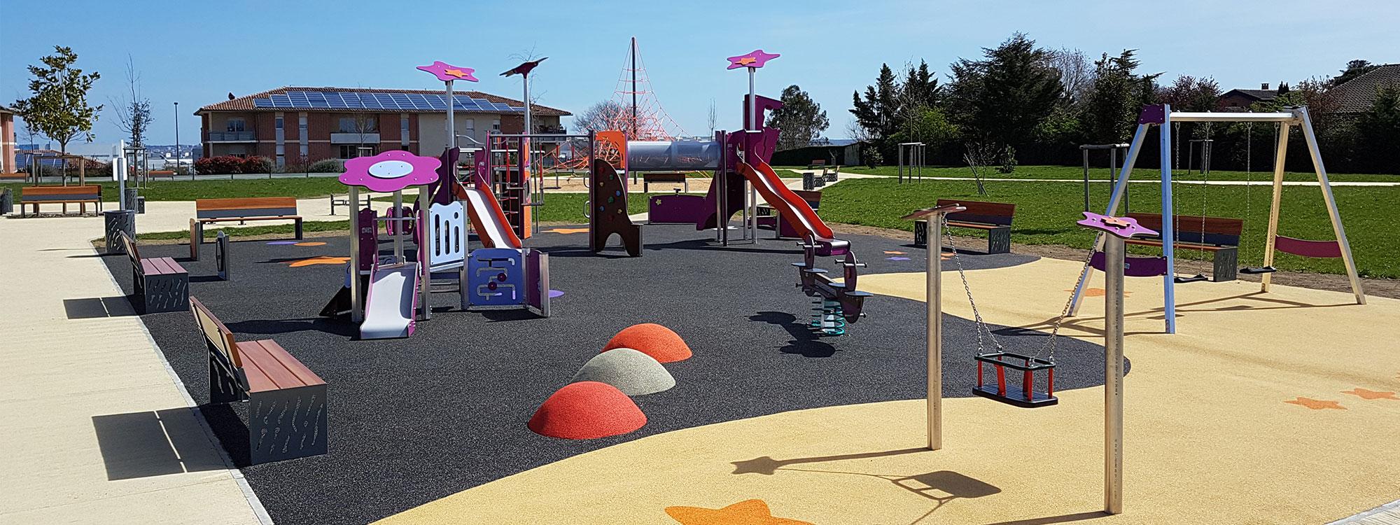 Aménagement d'aires de jeux extérieurs