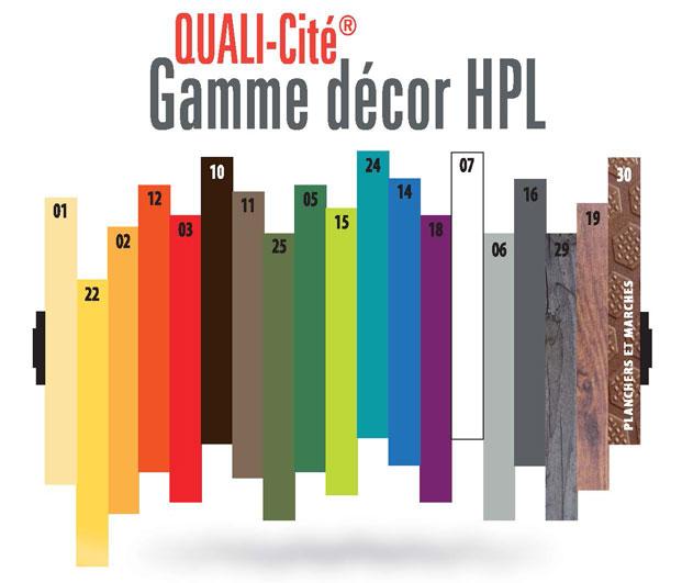 Nuancier couleur HPL Quali-cité
